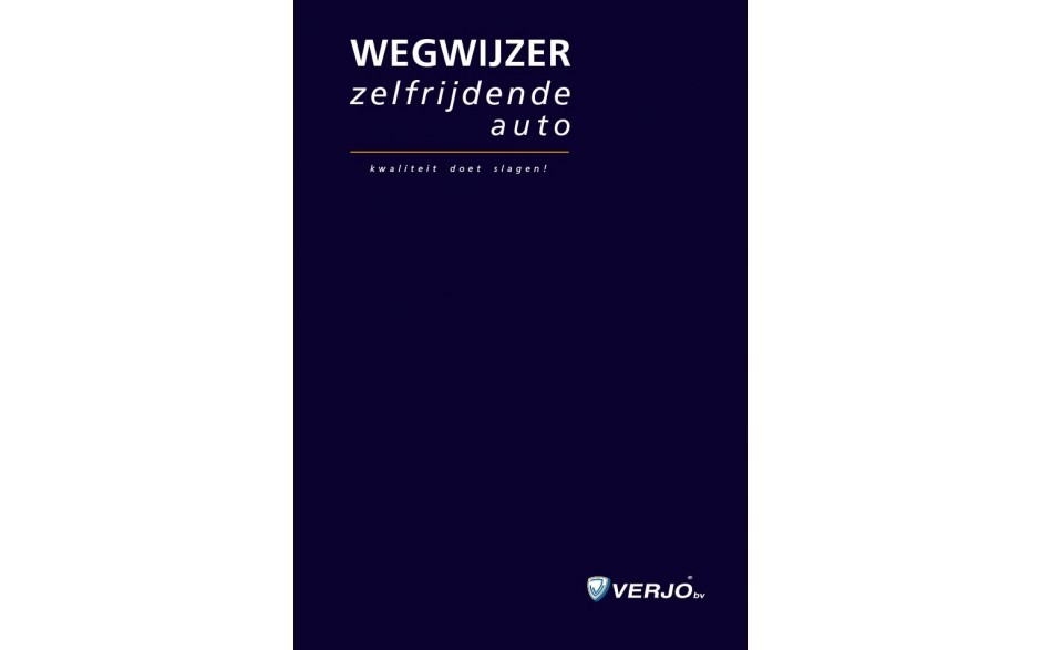 Wegwijzer zelfrijdende auto (notitieboek)