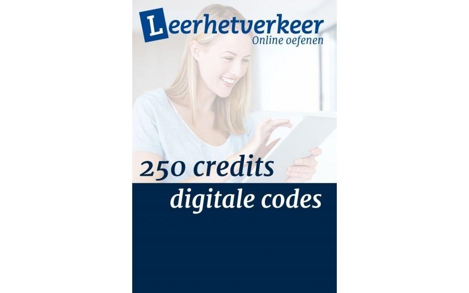 Digital codes per 250 credits