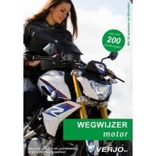 Wegwijzer in het verkeer motorfiets